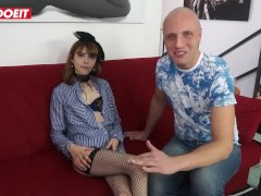 LETSDOEIT - Petite Italian Teen Takes A Big Cock At Casting