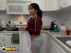 BANGBROS - Big Booty Cuban Maid Angelina Cleans And Gets Fucked!