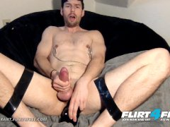 Flirt4Free - Nikko Grant - BDSM Boy Next Door Tortures His Ass w Big Dildo