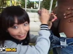 BANGBROS - Marica Hase's Tight Asian Pussy Meets A Big Black Dick