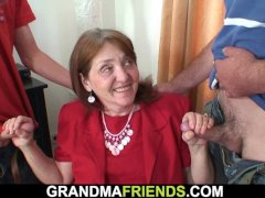 70 years old hairy pussy office granny in stockings