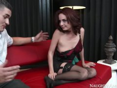 Naughty America Ashlee Graham Fucking In The Sofa With Her Diminutive Ass