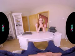 VRHUSH Charlie Red riding her stepfathers big cock in virtual reality