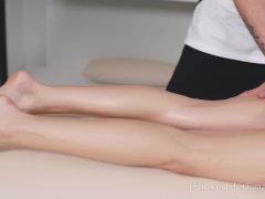 Cutie Lies Down On Massage Table To Get A Very Pleasant Bonus