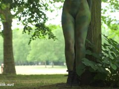 Invisible Nakedness In The City Body Art With Public Naked By Jeny Smith