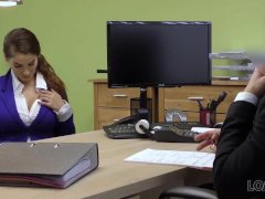 Remarkable Young Whore Passes Dirty Casting In Loan Office