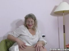 Grey-haired Gilf Zosya From Russia Finger Pulverizes Her Pussy