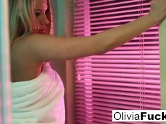 Super sexy Olivia Austin teases in the shower