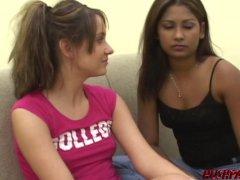 Lesbian Kinzie Eaten Out Through All Girl Honey And Fingering