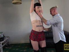 PASCALSSUBSLUTS - Inked sub Lara Malvo spanked and fucked