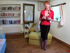 European Mature Red Xxx Relieves Some Stress After Work