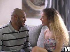 VIP4K. Cleaning girl Monique Woods seduces rich black gentleman