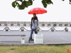 18videoz - Ariana Shaine - Casual teen fuck on rainy day