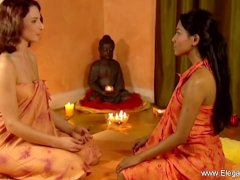 Female Massage Therapist And Her Indian Client