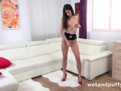 Tattoed Horny Ali Bordeaux Sexy For Her Fingers