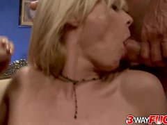 Three Way Fuck Large Melons Holly Sampson Gets Sweaty Working Double Duty