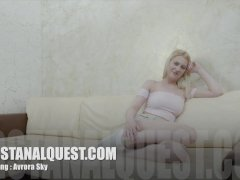 Blond Haired Russian Teen With Great Breasts Avrora Sky Enjoys First Time Butt