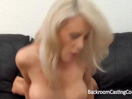 Big tit MILF ass fuck casting