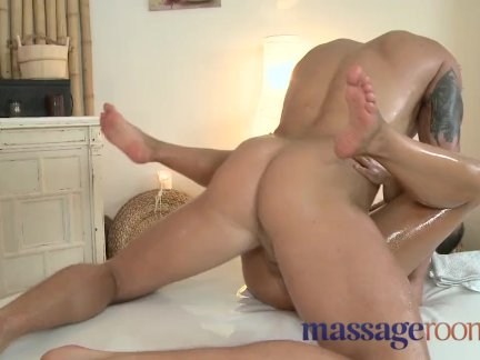 Massage Rooms - Petite brunette tight pussy
