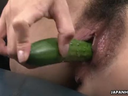 JAPANHDV Horny Asian Slut Fucked With Vegetables