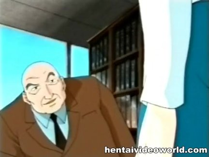 Older man does sex blackmail over anime wife