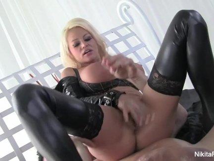 Busty Russian Nikita takes on a big cock