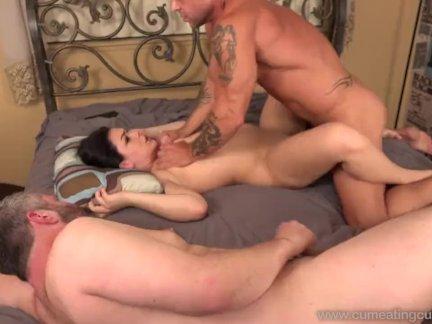Снял на видео секс с азиаткой в красных трусиках