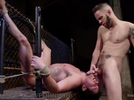 gay guy bdsm tied to pole