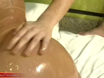 Shemale with perfect tits finger fucks ass