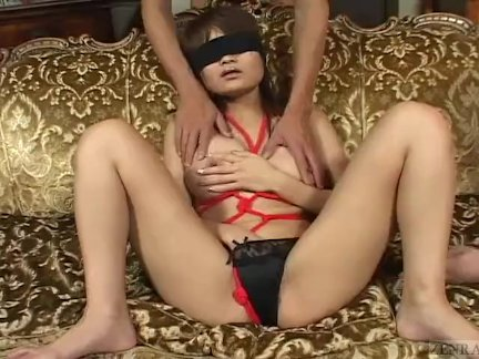 Uncensored blindfolded and bound in Japan