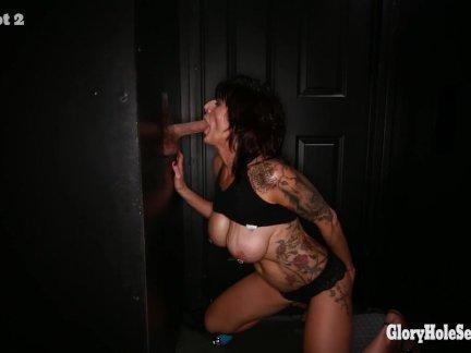 Gloryhole Secrets mature woman gets more cum than she