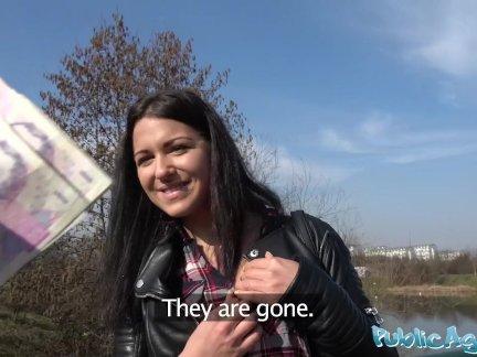 Общественный агент русский официантка трах снаружи в на улице