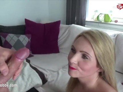 Mydirtyhobby – Busty blonde rides a young cock