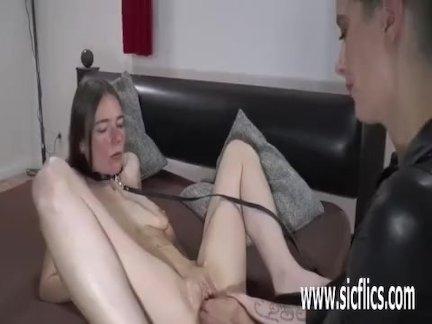 Gang bang double fisting loose pussy slut