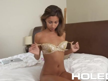 HOLED Anal fuck and creampie with tight booty Jade Jantzen