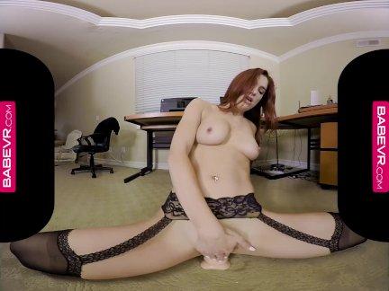 Бабеврком грудастая рыженькая джейден коул мастурбирует в ее офис