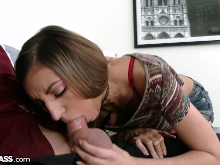 Cumshot 4 Horny Latina Teen After Sucking Bestie's Daddy!!