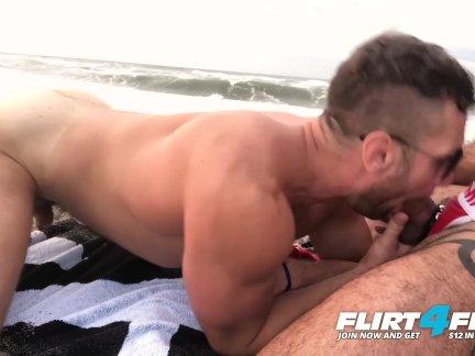 Флиртфри-киллиан и экипаж-разорвал скряга лижет жопу оральный на в пляж