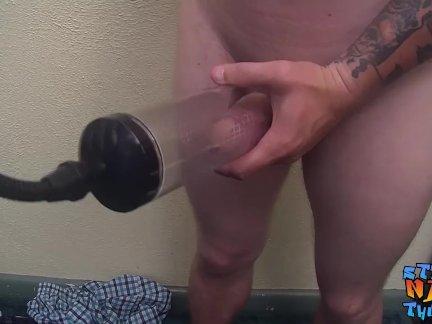 Натурал шпилька с сексуальный фриволите делая его жестоко член спрей кончить