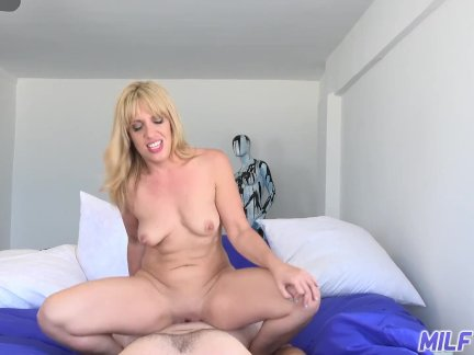 MILF Trip – Horny blonde MILF gets filled with thick dick – Part 1