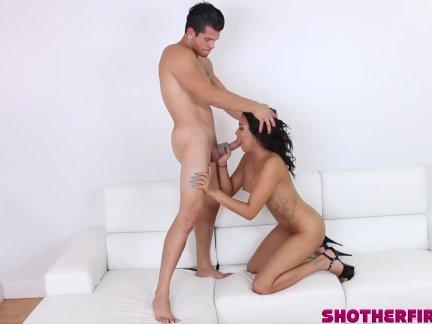 Aaliyah Hadid has her first professional fucking on camera!