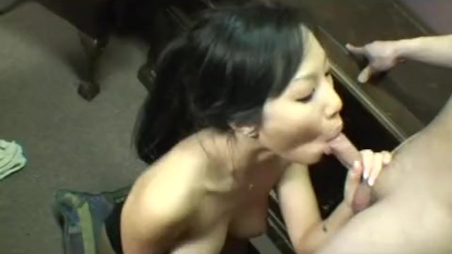 Asian girlfriend nibbling on a dick straight