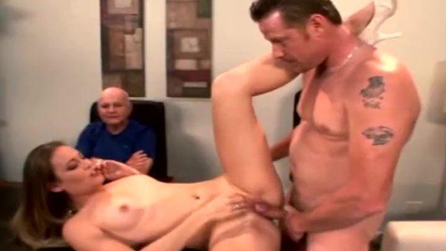 Swinger Blonde Tasted a Sweet Cum