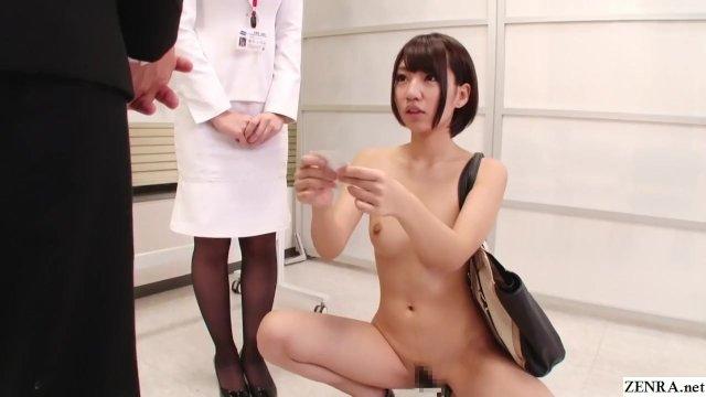 とある会社の新人研修。全裸で挨拶、マンコを広げて名刺交換