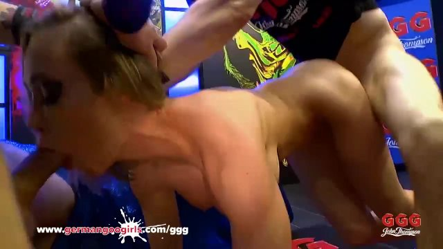 MILF Chessie Kay gets her mouth Full Of Cocks - German Goo Girls