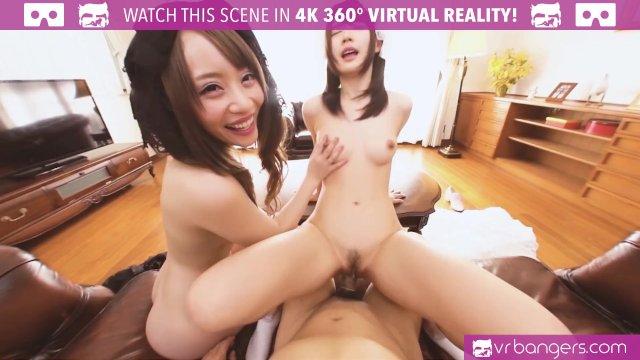 VRBangers Sexy Teen Geisha Girls Pleasuring a Big Dick