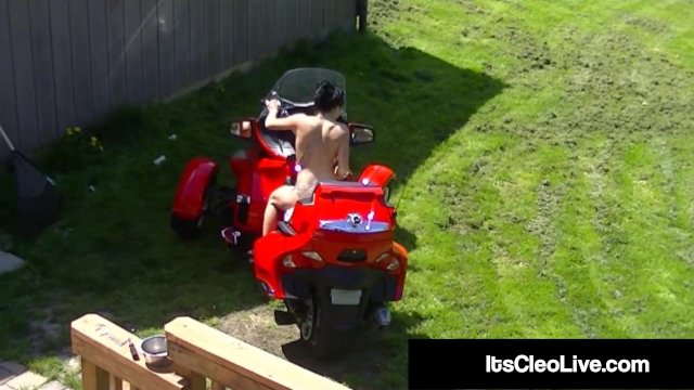 Cam Cutie Its Cleo Rides Dildo & Tractor -WTF?