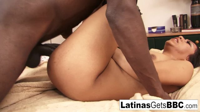 Sexy Latina Leslie Sierra takes the big black cock deep inside