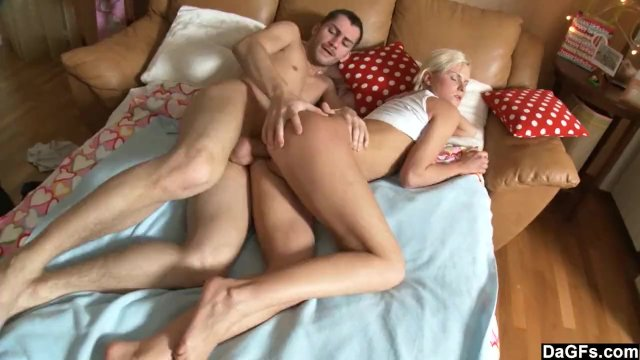 Young couple wake up with anal sex