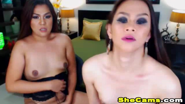 Super Wild and Wet Shemale Couple Fuck On Cam